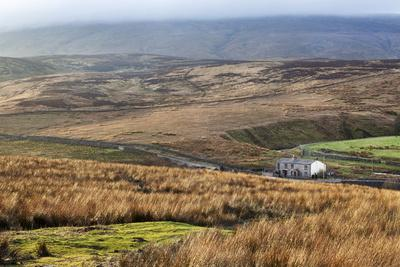 Isolated House by the Road in Garsdale Below Baugh Fell