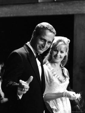 Actors Paul Newman and Joanne Woodward by Mark Kauffman