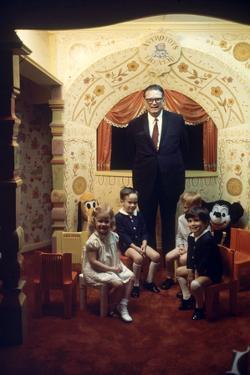 Judge Roy Mark Hofheinz and Grandchildren, Harris County Stadium 'Astrodome', Houston, TX, 1968 by Mark Kauffman