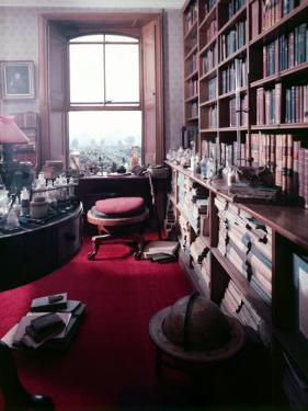 Library Study of Famed Naturalist Charles Darwin by Mark Kauffman