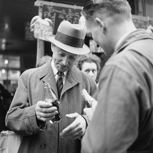 Parisians Drinking Bottled Coca Cola, Paris, France, 1950 by Mark Kauffman