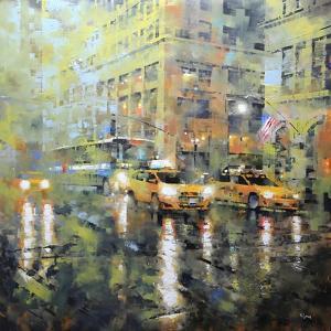 Manhattan Orange and Green by Mark Lague