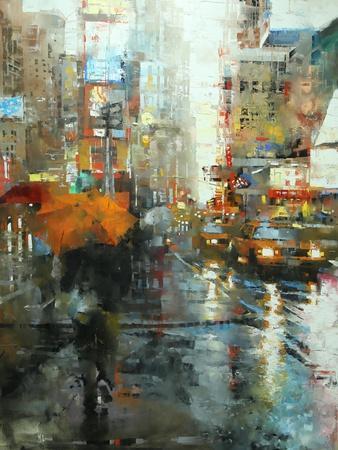 Manhattan Orange Umbrella