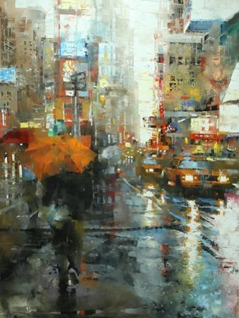 Manhattan Orange Umbrella by Mark Lague