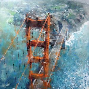 Over Golden Gate by Mark Lague