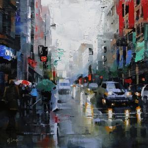 St. Catherine Street Rain by Mark Lague