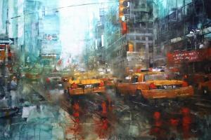 Times Square Reflections by Mark Lague