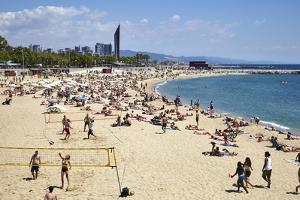 Barcelona Beach, Barcelona, Catalonia, Spain by Mark Mawson