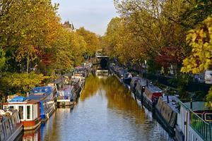 Canal Boats, Little Venice, London W9, England, United Kingdom, Europe by Mark Mawson