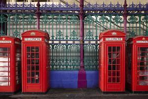 London Red Phone Boxes, Smithfield Market, London, England, United Kingdom, Europe by Mark Mawson