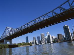 The Storey Bridge and City Skyline Across the Brisbane River, Brisbane, Queensland, Australia by Mark Mawson