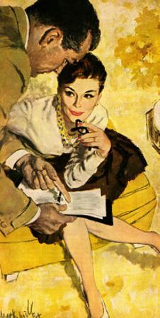 """The Progressive Approach  - Saturday Evening Post """"Leading Ladies"""", December 16, 1960 pg.30 by Mark Miller"""