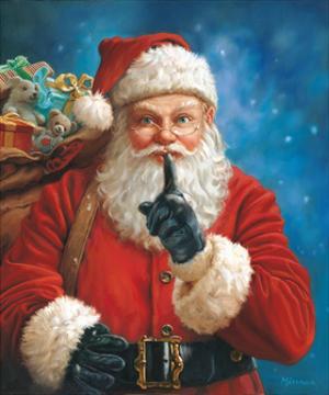 Shh Santa by Mark Missman