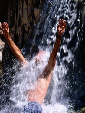 Bather, Pah Tempe Hot Springs, Hurricane, U.S.A. by Mark Newman