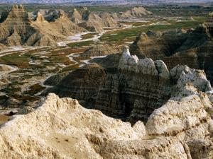 Overhead of Rock Formations From Sheep Mountain Table, SW Badlands, Badlands National Park, U.S.A. by Mark Newman