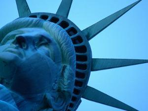Statue of Liberty with a Viewing Platform in Her Crown, New York City, New York, USA by Mark Newman