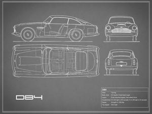 Aston DB4 -Grey by Mark Rogan
