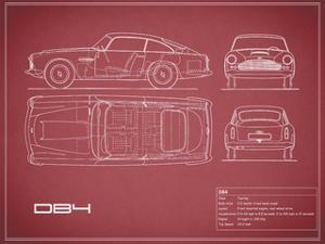 Aston DB4 -Maroon by Mark Rogan