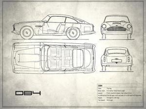 Aston DB4 White by Mark Rogan