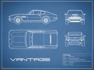 Aston V8 Vantage-Blue by Mark Rogan