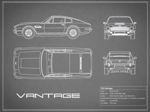 Aston V8 Vantage-Grey by Mark Rogan
