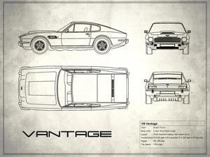 Aston V8 Vantage White by Mark Rogan
