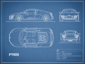 Audi R8 V10-Blue by Mark Rogan