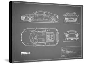 Audi R8 V10-Grey by Mark Rogan