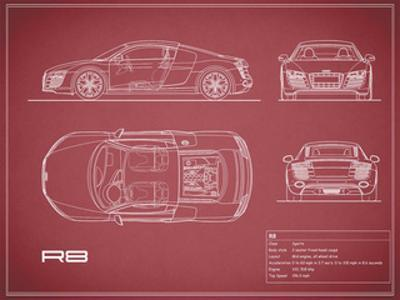 Audi R8 V10-Maroon by Mark Rogan