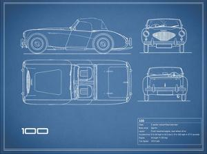 Austin-Healey 100-Blue by Mark Rogan