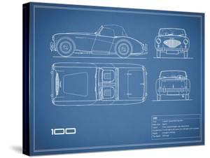 Austin-Healey 100-Blue by Mark Rogan
