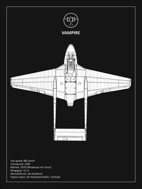 BP de-Havilland Vampire Black by Mark Rogan