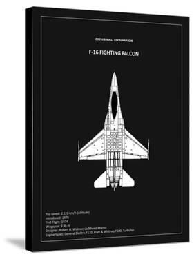 BP F-16 Fighting Falcon Black by Mark Rogan