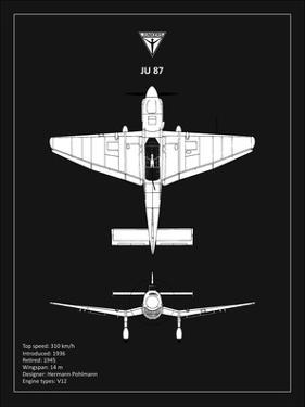 BP Junkers JU87 Black by Mark Rogan