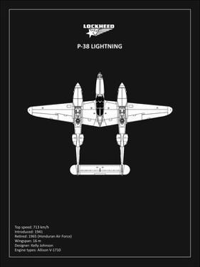 BP Lockheed P38 Lightning Black by Mark Rogan