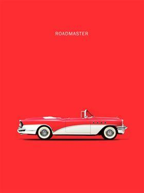 Buick Roadmaster 55 Red by Mark Rogan