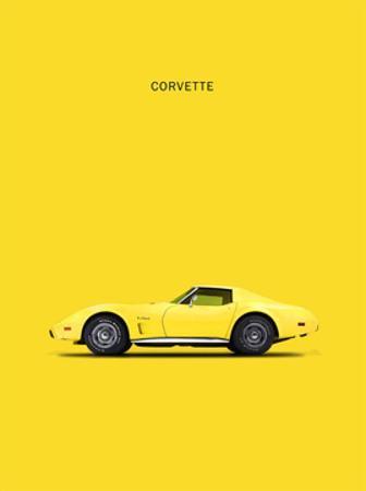 Chev Corvette Yellow by Mark Rogan