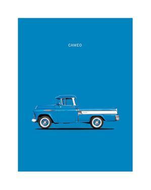 Chevrolet Cameo Pickup 1957 Bl by Mark Rogan