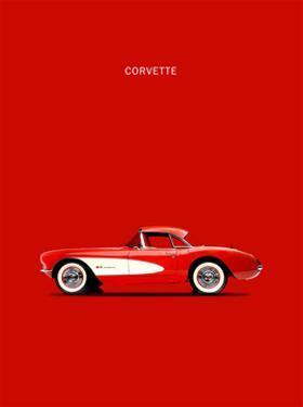 Corvette 1957 Red by Mark Rogan
