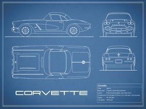 Corvette 33BHP-Blue by Mark Rogan