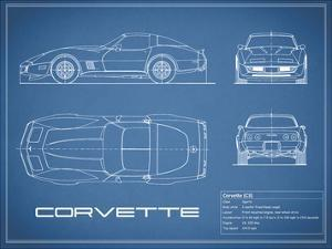 Corvette C3-Blue by Mark Rogan