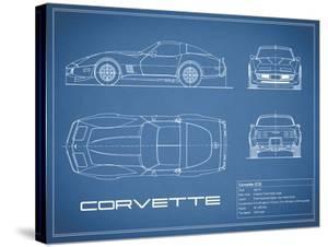 Corvette C3-Blue by Mark Rogan