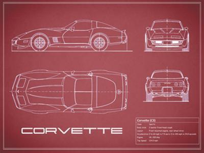 Corvette C3-Maroon by Mark Rogan