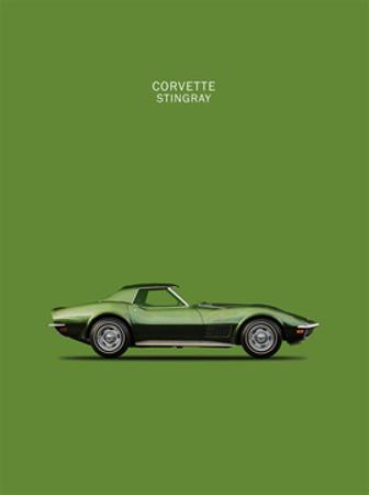 Corvette Stingray 1970 Green by Mark Rogan
