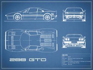 Ferrari 288-GTO-Blue by Mark Rogan