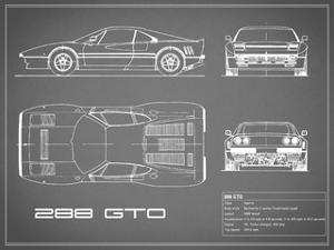 Ferrari 288-GTO-Grey by Mark Rogan