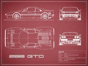 Ferrari 288-GTO-Maroon by Mark Rogan