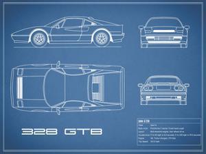 Ferrari 328-GTB-Blue by Mark Rogan