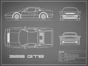 Ferrari 328-GTB-Grey by Mark Rogan
