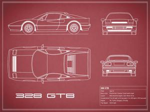 Ferrari 328-GTB-Maroon by Mark Rogan